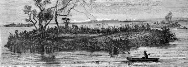 Фотография сельского хозяйства чинампа, 1912 год. KARL WEULE/ОБЩЕСТВЕННОЕ ДОСТОЯНИЕ
