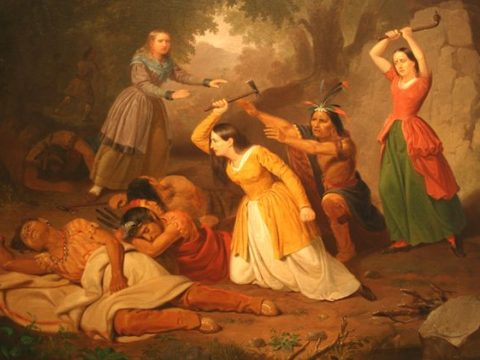 Ханна Дастон убивает индейцев